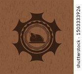 chicken dish icon inside wood... | Shutterstock .eps vector #1503333926
