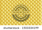 canadian quality gold badge or... | Shutterstock .eps vector #1503334199