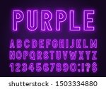 neon purple font  light... | Shutterstock .eps vector #1503334880