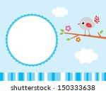 happy baby bird message | Shutterstock .eps vector #150333638