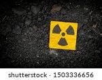 Radiation Warning Sign On Soil...
