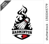 badminton shuttlecock ball... | Shutterstock .eps vector #1503345779