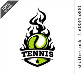 tennis ball flame badge logo... | Shutterstock .eps vector #1503345800