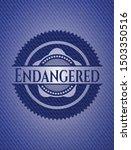 endangered badge with jean... | Shutterstock .eps vector #1503350516