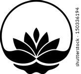 Stock vector lotus symbol 150336194