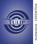 tulip badge with denim... | Shutterstock .eps vector #1503367016