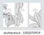 set of botanical brochure cover ... | Shutterstock .eps vector #1503370919