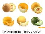 melons  sweet fruits. 3d... | Shutterstock .eps vector #1503377609