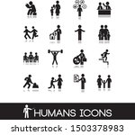 set of black humans figure and ... | Shutterstock .eps vector #1503378983