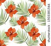 palm beach. tropic summer... | Shutterstock .eps vector #1503381566