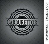 carburettor black badge. vector ... | Shutterstock .eps vector #1503381770
