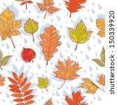 autumn leaves colorful seamless ... | Shutterstock .eps vector #150339920