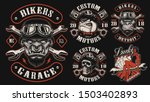 Set Of Vector Designs For Biker ...