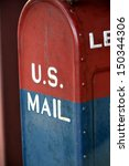 Us Mail Red And Blue
