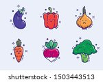 colorful images of cute...   Shutterstock .eps vector #1503443513