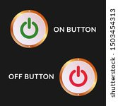 on off button with ellipse ...