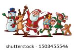 santa claus and friends... | Shutterstock .eps vector #1503455546