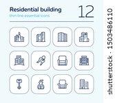 residential building icons. set ... | Shutterstock .eps vector #1503486110
