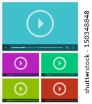 modern flat video player... | Shutterstock .eps vector #150348848