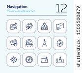 navigation line icon set. map ... | Shutterstock .eps vector #1503500879
