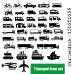 transport icon set | Shutterstock .eps vector #150350339