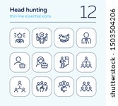 headhunting icon. set of line... | Shutterstock .eps vector #1503504206