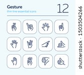 gesture icon. set of line icons ... | Shutterstock .eps vector #1503504266