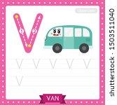 letter v uppercase cute... | Shutterstock .eps vector #1503511040