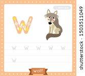 Letter W Lowercase Cute...