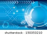 abstract technology background...   Shutterstock .eps vector #150353210