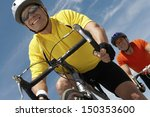 low angle view of men riding... | Shutterstock . vector #150353600