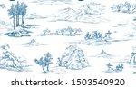 pattern with oriental landscape ... | Shutterstock .eps vector #1503540920