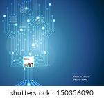 circuit board vector | Shutterstock .eps vector #150356090