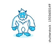 Stock vector yeti icon bigfoot sign abominable snowman symbol sasquatch 1503600149