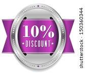 purple ten percent discount...   Shutterstock .eps vector #150360344
