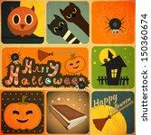 set of retro halloween labels...   Shutterstock .eps vector #150360674