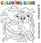 Coloring Book Halloween Owl 1 ...