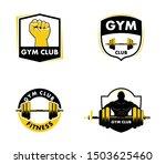set of gymnastic body building...   Shutterstock .eps vector #1503625460