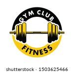 barbell inside an emblem for...   Shutterstock .eps vector #1503625466
