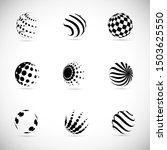 globe logo set   isolated on... | Shutterstock .eps vector #1503625550