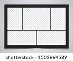 templates collage 5 frames... | Shutterstock .eps vector #1503664589