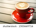 Close up of hot cappuccino...