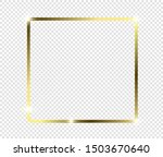 gold shiny glowing frame with... | Shutterstock .eps vector #1503670640