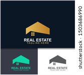 real estate logo design. ... | Shutterstock .eps vector #1503686990
