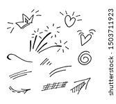 vector hand drawn. doodles... | Shutterstock .eps vector #1503711923