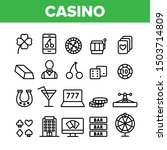 casino collection play elements ...   Shutterstock .eps vector #1503714809