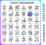 talent management line concept... | Shutterstock .eps vector #1503715199