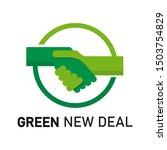 green new deal logo template... | Shutterstock .eps vector #1503754829