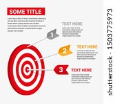 target infographic with three... | Shutterstock .eps vector #1503775973