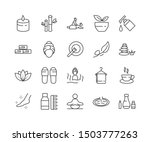 simple set of spa related... | Shutterstock .eps vector #1503777263